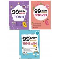 Combo 99 Ngày Em Học Giỏi Toán - Tiếng Việt - Tiếng Anh Lớp 3