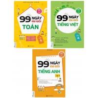 Combo 99 Ngày Em Học Giỏi Toán - Tiếng Việt - Tiếng Anh Lớp 4