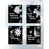 Sách Tương Phản - Kích Thích Thị Giác Trẻ Sơ Sinh - Trọn Bộ 4 Cuốn