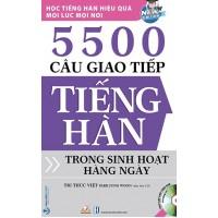 5500 Câu Giao Tiếp Tiếng Hàn Trong Sinh Hoạt Hàng Ngày (Kèm CD)