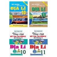 Combo Bồi Dưỡng Học Sinh Giỏi Địa Lí Lớp 10, 11 + Tổng Tập Đề Thi Olympic 30 Tháng 4 Địa Lí Lớp 10, 11 (Bộ 4 Cuốn)