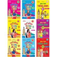 Combo Bài Tập Tiếng Anh Lớp 10, 11, 12 + Bài Tập Trắc Nghiệm Tiếng Anh Lớp 10, 11, 12 Có Đáp Án (Bộ 9 Cuốn)
