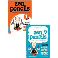 Combo Zen Pencils 1 - Biếm Họa Danh Ngôn Truyền Cảm Hứng + Zen Pencils 2 - Biếm Họa Mơ Điều Không Tưởng (Bộ 2 Cuốn)