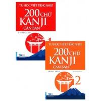 Tự Học Viết Tiếng Nhật 200 Chữ Kanji Căn Bản (Bộ 2 Tập)