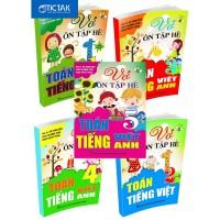 Combo Vở Ôn Tập Hè Toán, Tiếng Việt, Tiếng Anh Lớp 1, 2, 3, 4, 5 (Bộ 5 Cuốn)