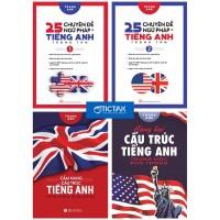 Combo 25 Chuyên Đề Ngữ Pháp Trọng Tâm + Cẩm Nang Cấu Trúc Tiếng Anh (Bộ 4 Cuốn)