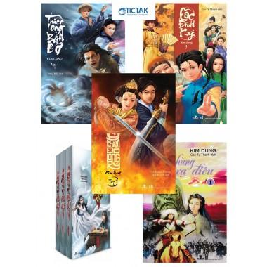 Combo Tiếu Ngạo Giang Hồ + Thiên Long Bát Bộ + Ỷ Thiên Đồ Long Ký + Anh Hùng Xạ Điêu + Lộc Đỉnh Ký (5 Bộ)