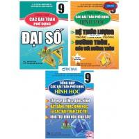 Combo Tổng Hợp Các Bài Toán Phổ Dụng Đại Số + Hình Học Lớp 9 (Bộ 3 Cuốn)